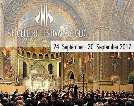 st gellert festival banner date white letters concert hall